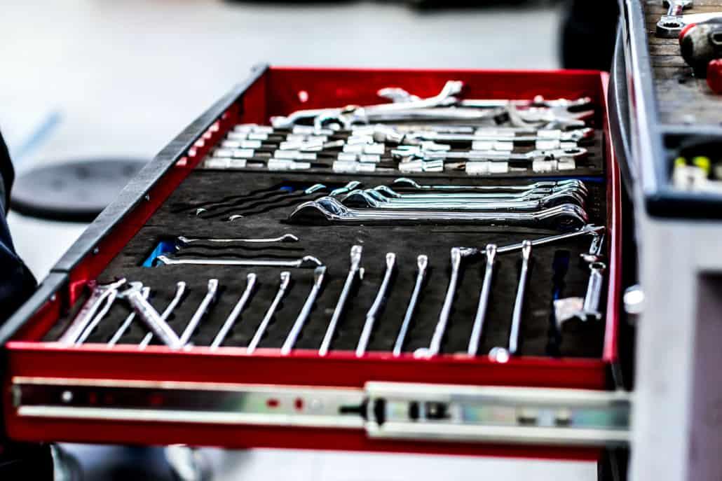 værktøj til autoservice