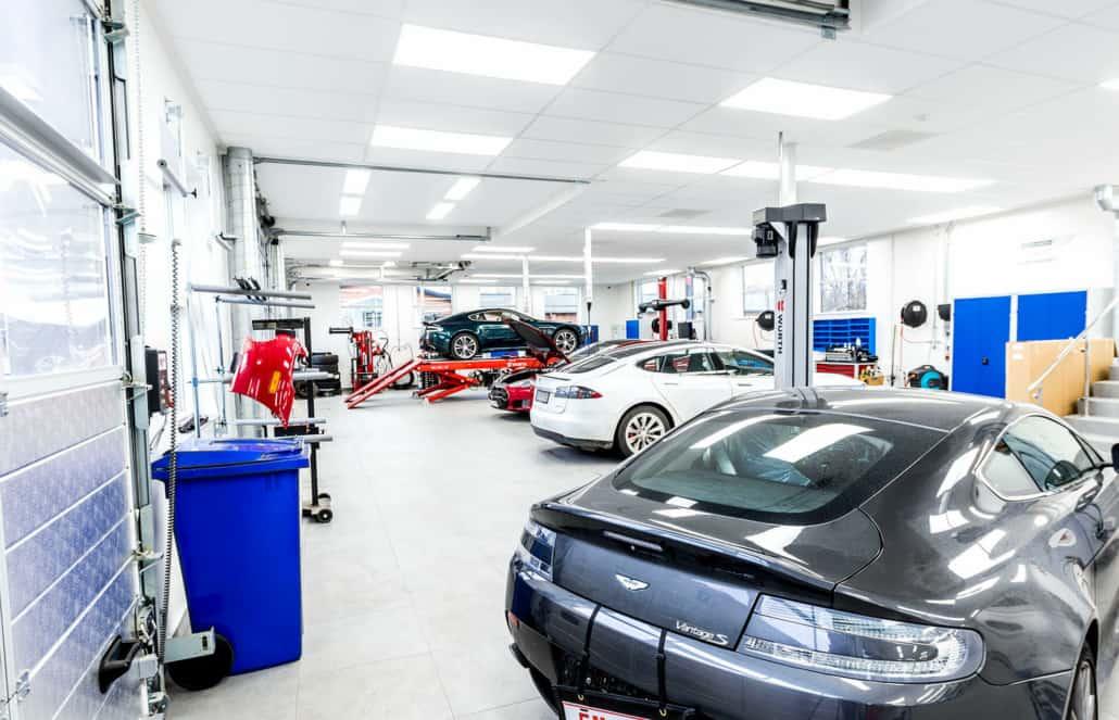 autoværksted til reparation af specialbiler